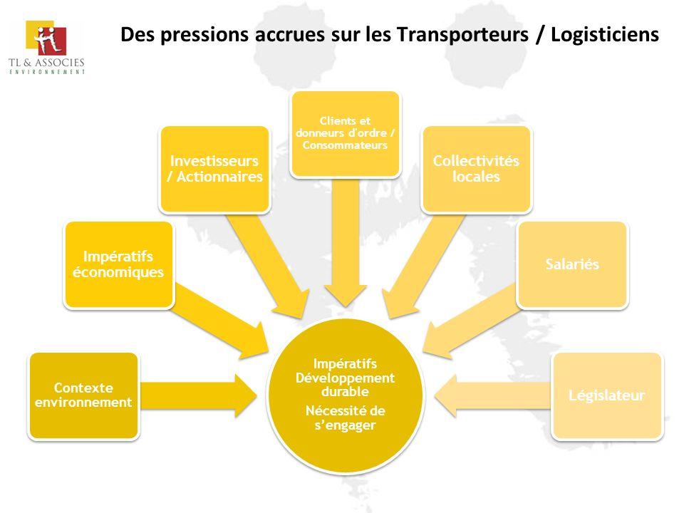 Des pressions accrues sur les Transporteurs / Logisticiens