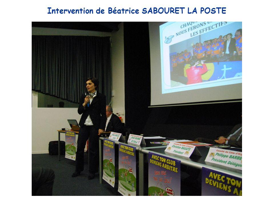 Intervention de Béatrice SABOURET LA POSTE