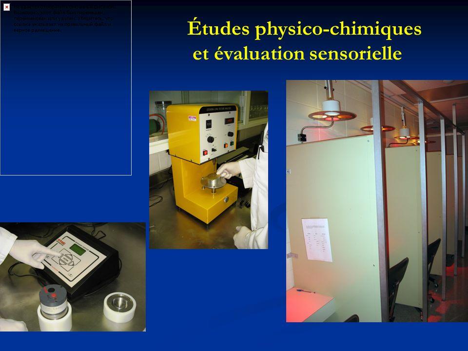 Études physico-chimiques