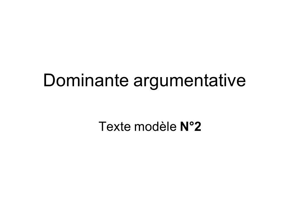 Dominante argumentative