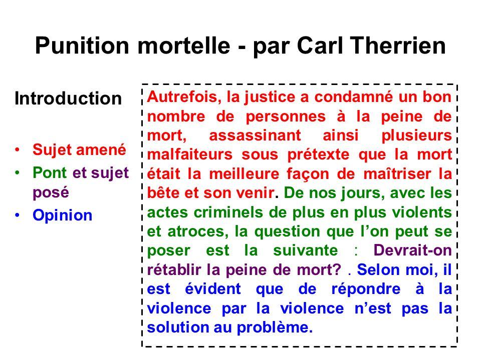 Punition mortelle - par Carl Therrien