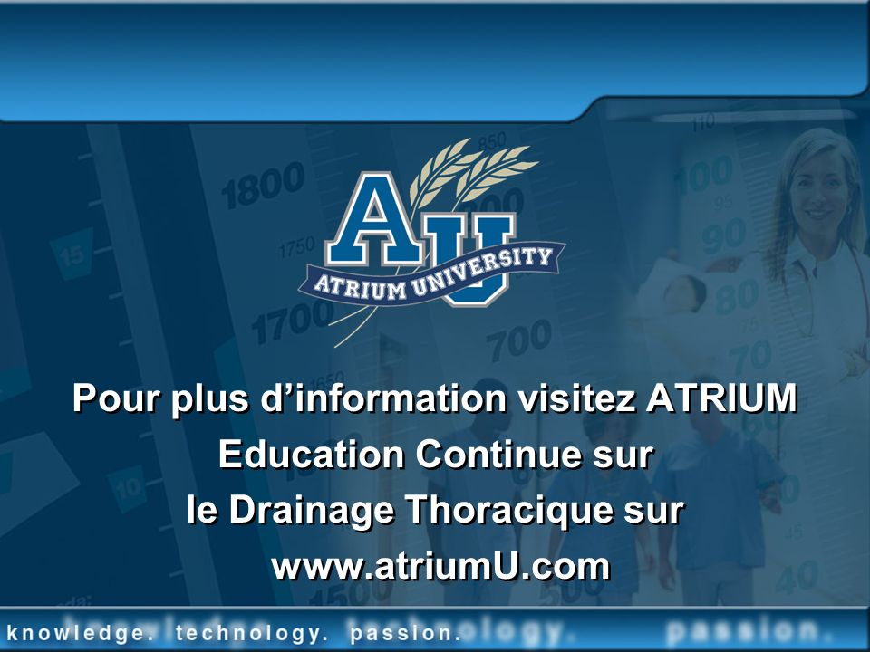 Pour plus d'information visitez ATRIUM Education Continue sur