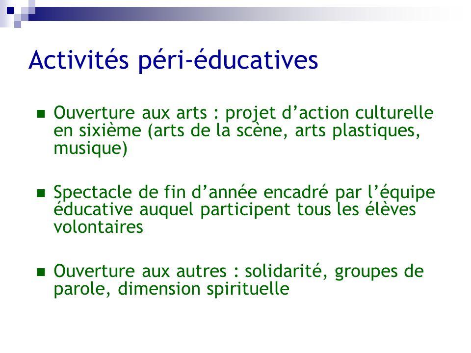 Activités péri-éducatives
