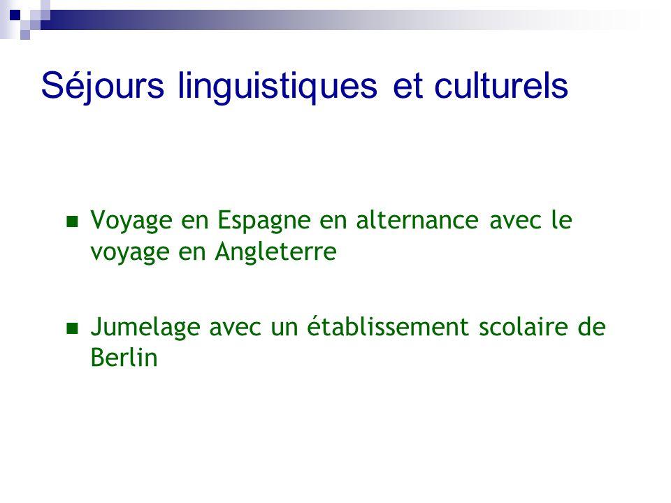 Séjours linguistiques et culturels