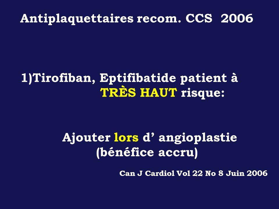 Antiplaquettaires recom. CCS 2006