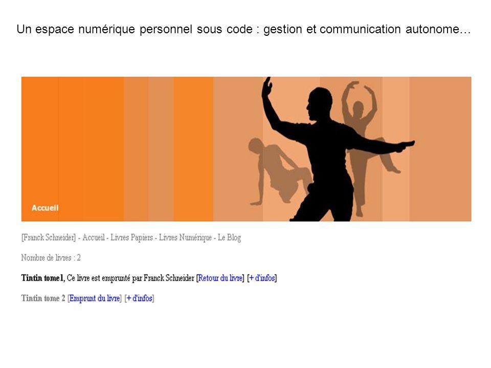 Un espace numérique personnel sous code : gestion et communication autonome…
