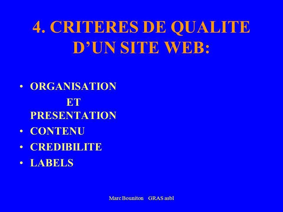 4. CRITERES DE QUALITE D'UN SITE WEB: