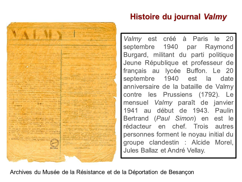 Histoire du journal Valmy