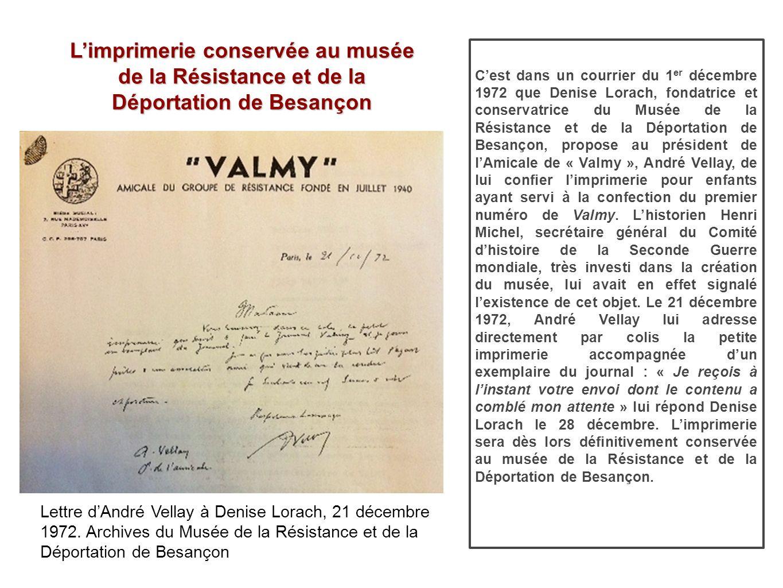 L'imprimerie conservée au musée de la Résistance et de la Déportation de Besançon