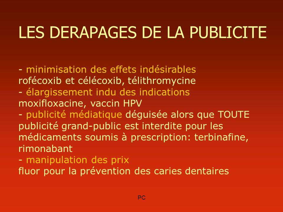 LES DERAPAGES DE LA PUBLICITE