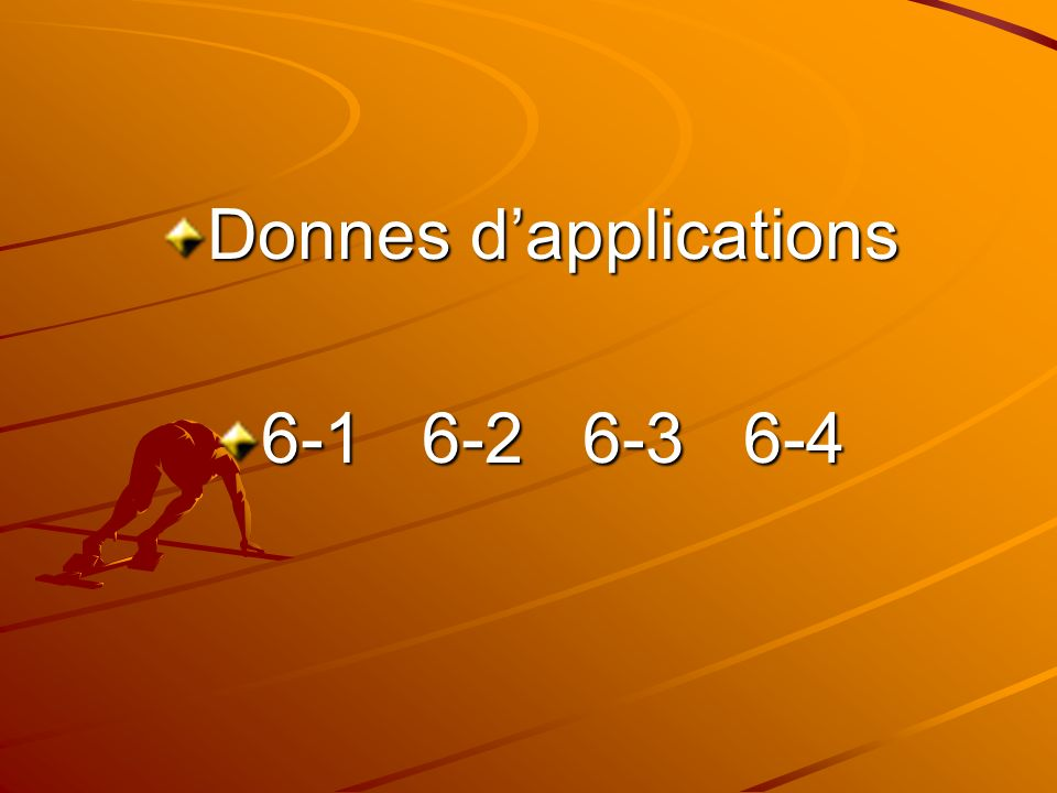 Donnes d'applications
