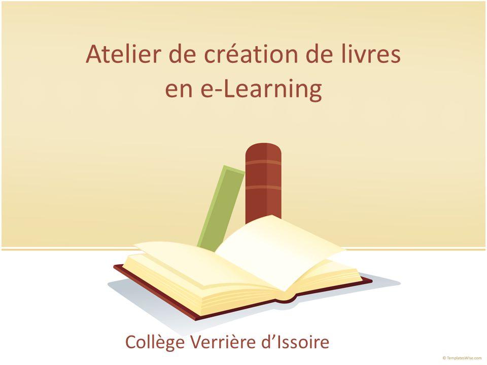 Atelier de création de livres en e-Learning