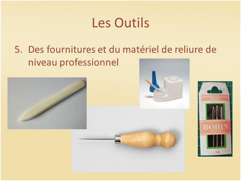 Les Outils Des fournitures et du matériel de reliure de niveau professionnel