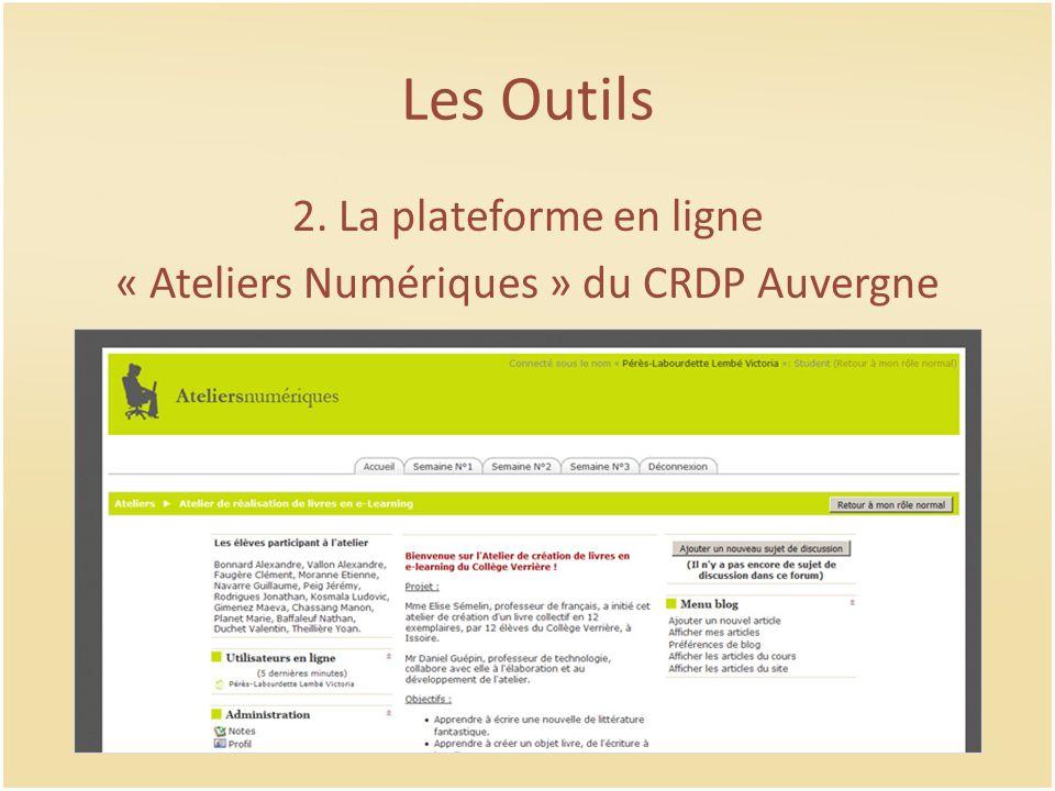 « Ateliers Numériques » du CRDP Auvergne