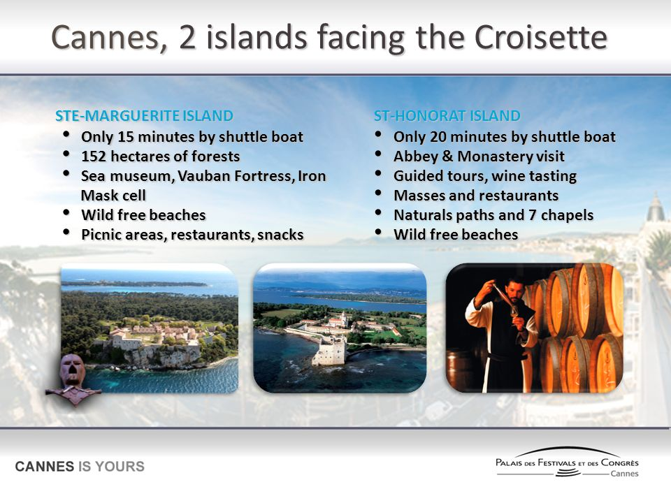 Cannes, 2 islands facing the Croisette