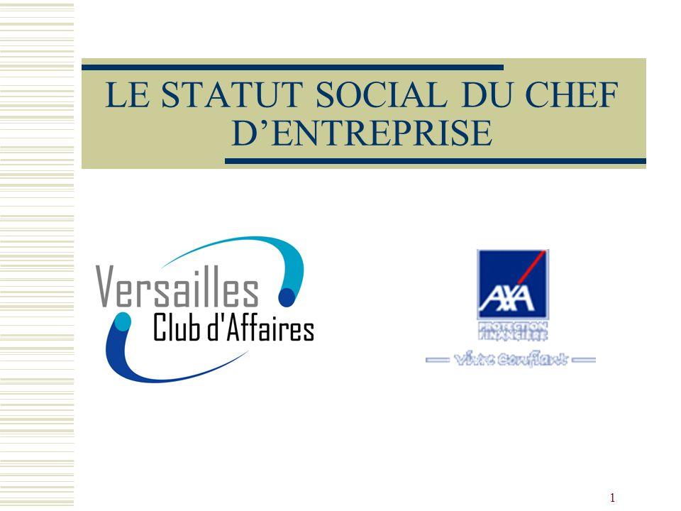 LE STATUT SOCIAL DU CHEF D'ENTREPRISE