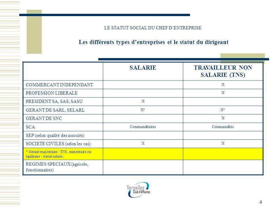TRAVAILLEUR NON SALARIE (TNS)
