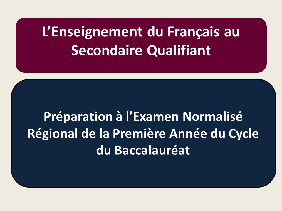 L'Enseignement du Français au Secondaire Qualifiant