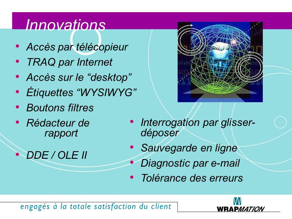 Innovations Accès par télécopieur TRAQ par Internet