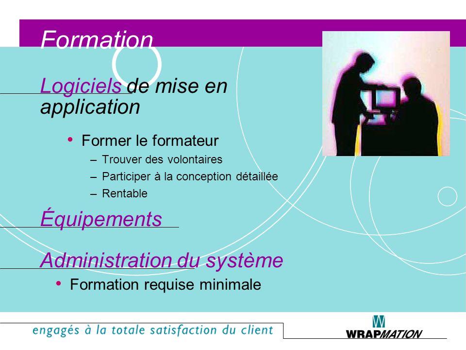 Formation Logiciels de mise en application Équipements