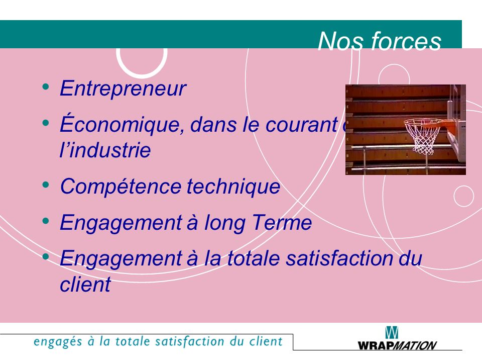 Nos forces Entrepreneur Économique, dans le courant de l'industrie