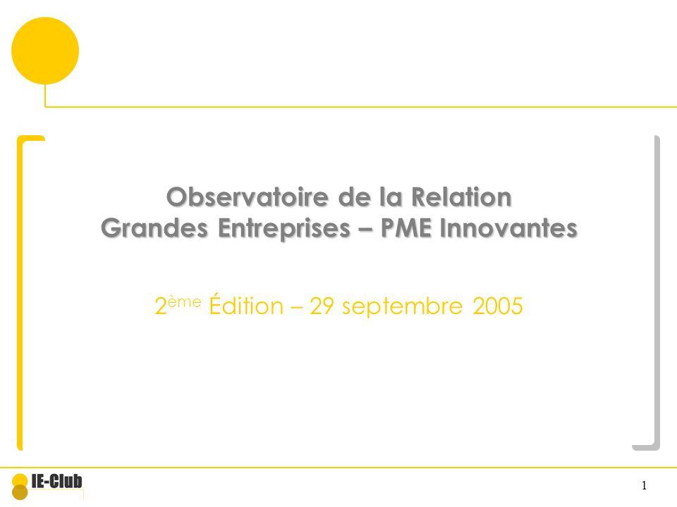 Observatoire de la Relation Grandes Entreprises – PME Innovantes