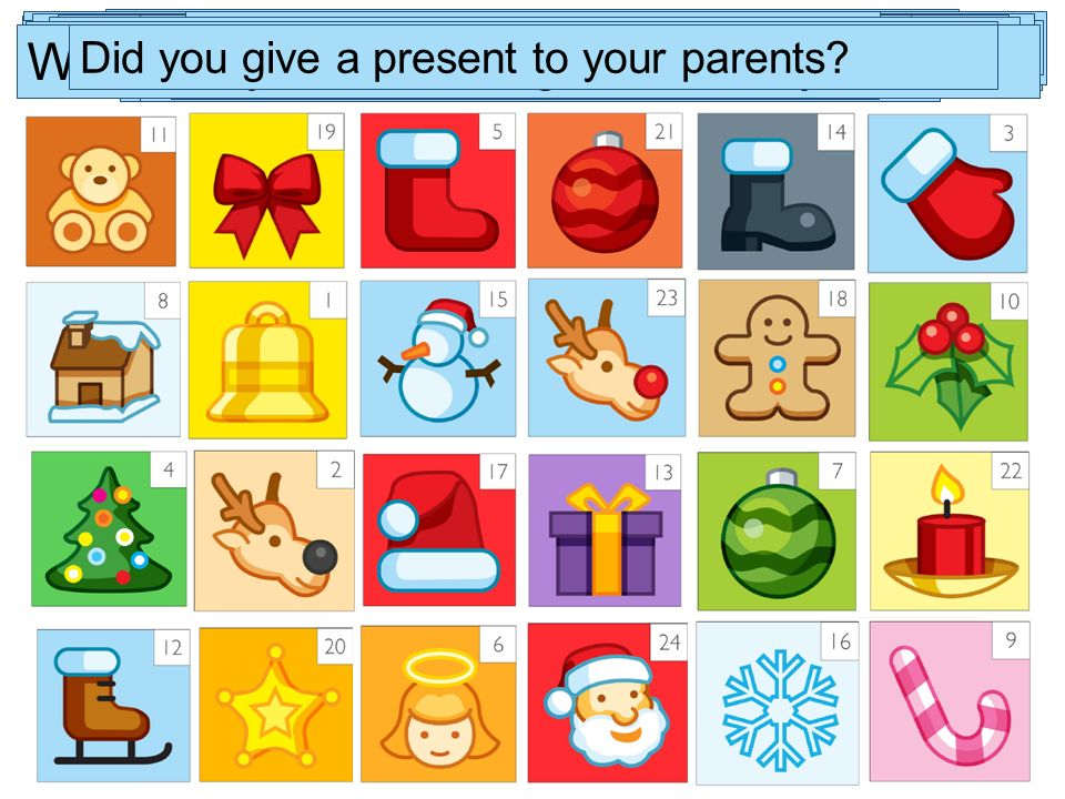 What s your favourite present What presents did you get