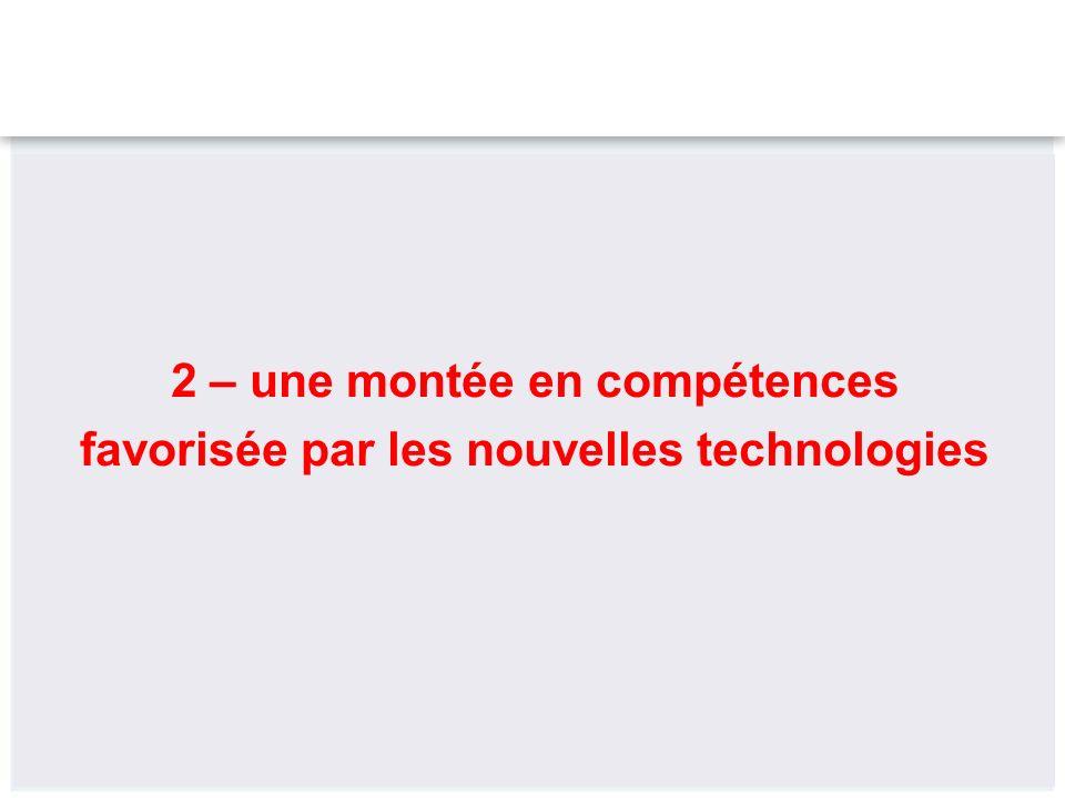 2 – une montée en compétences favorisée par les nouvelles technologies