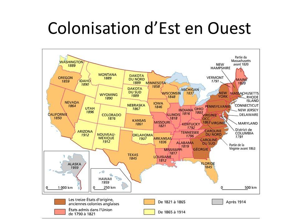 Colonisation d'Est en Ouest