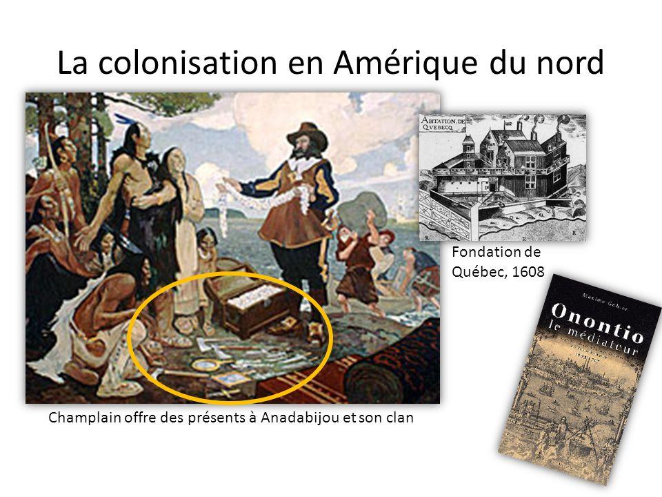 La colonisation en Amérique du nord