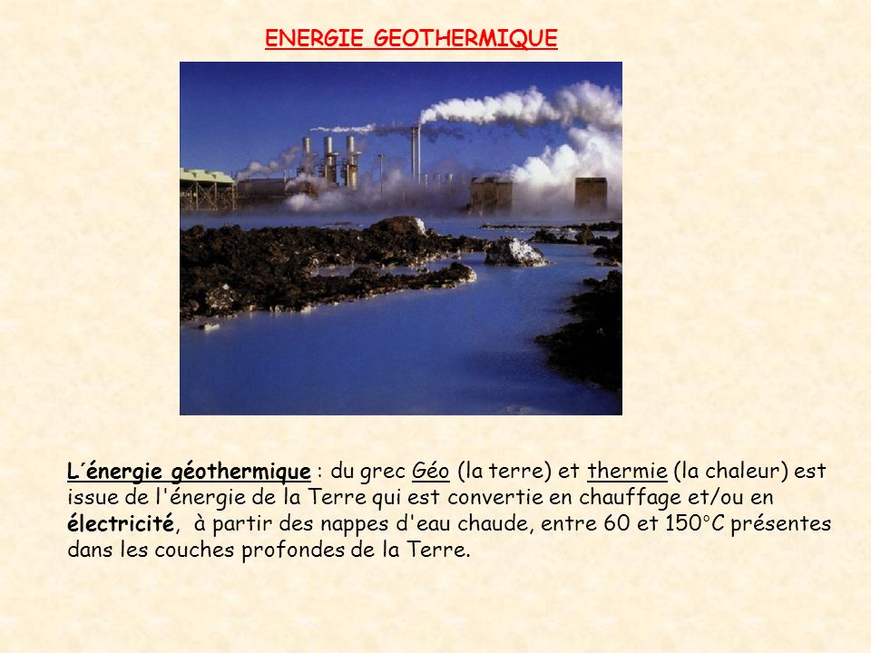 ENERGIE GEOTHERMIQUE