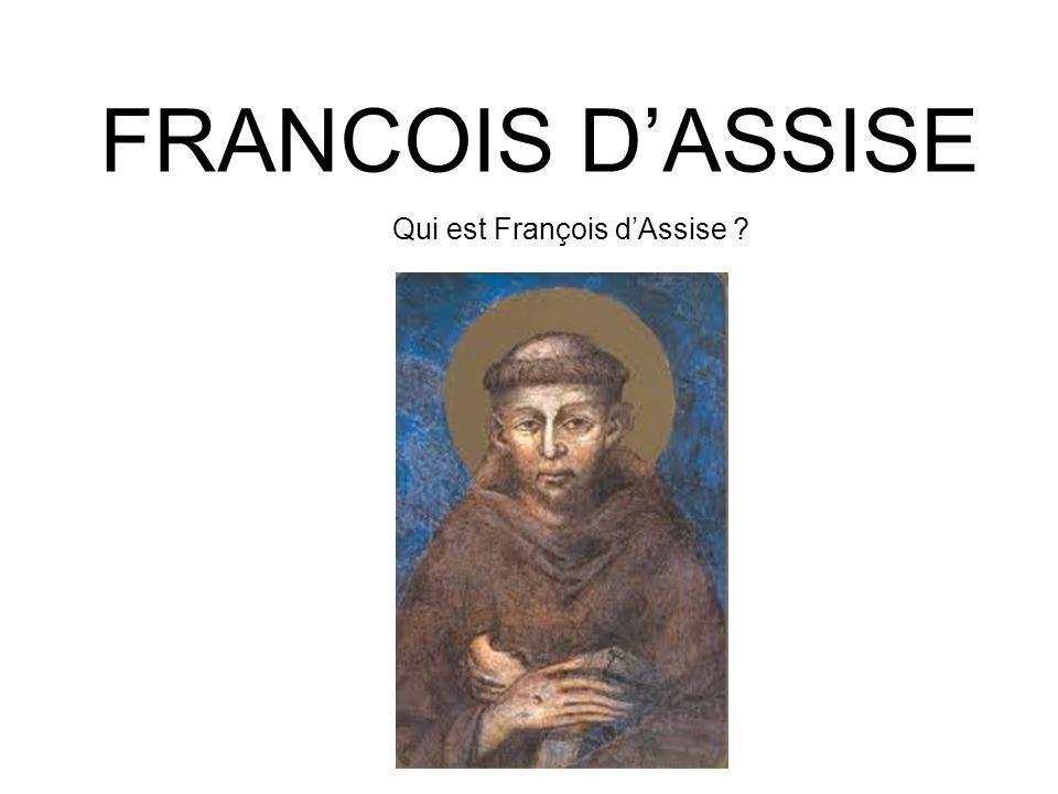 Qui est François d'Assise