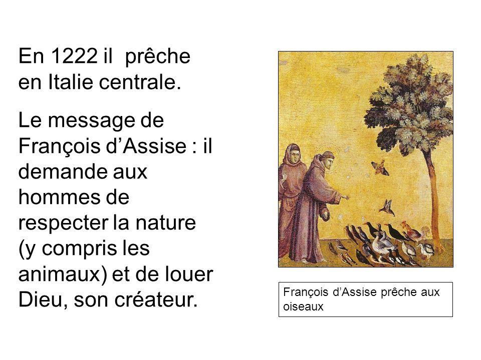 En 1222 il prêche en Italie centrale.