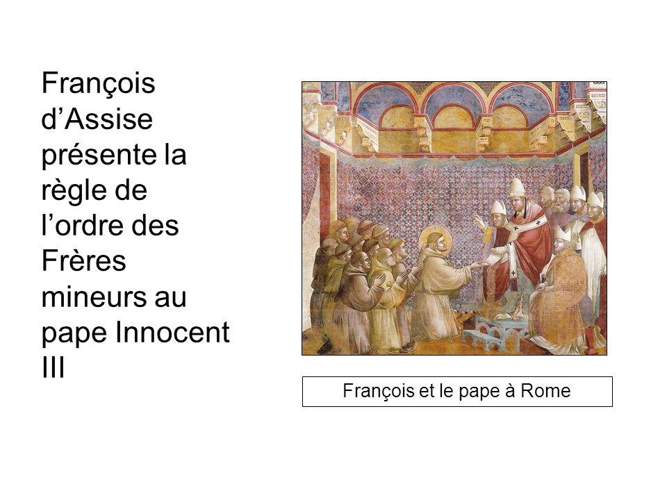 François et le pape à Rome