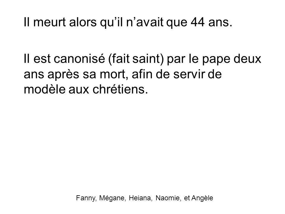 Fanny, Mégane, Heiana, Naomie, et Angèle