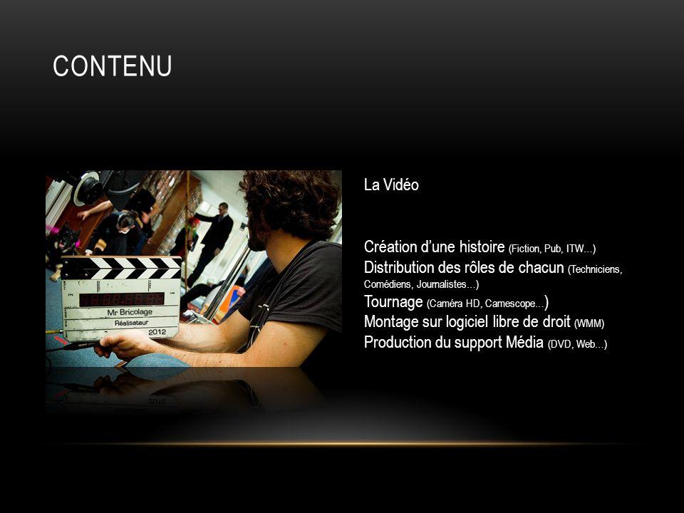 Contenu La Vidéo Création d'une histoire (Fiction, Pub, ITW…)