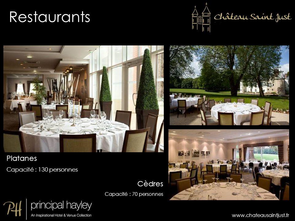 Restaurants Platanes Cèdres Capacité : 130 personnes 13