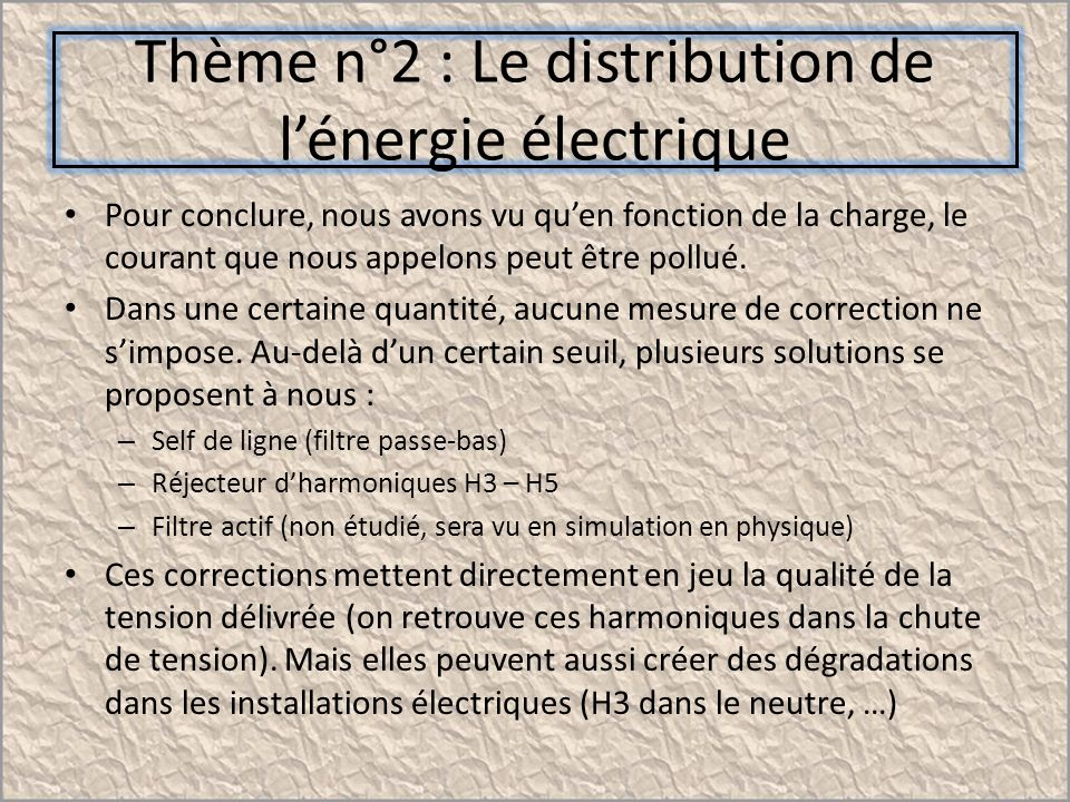 Th me n 2 le distribution de l nergie lectrique ppt - Chute de tension electrique ...