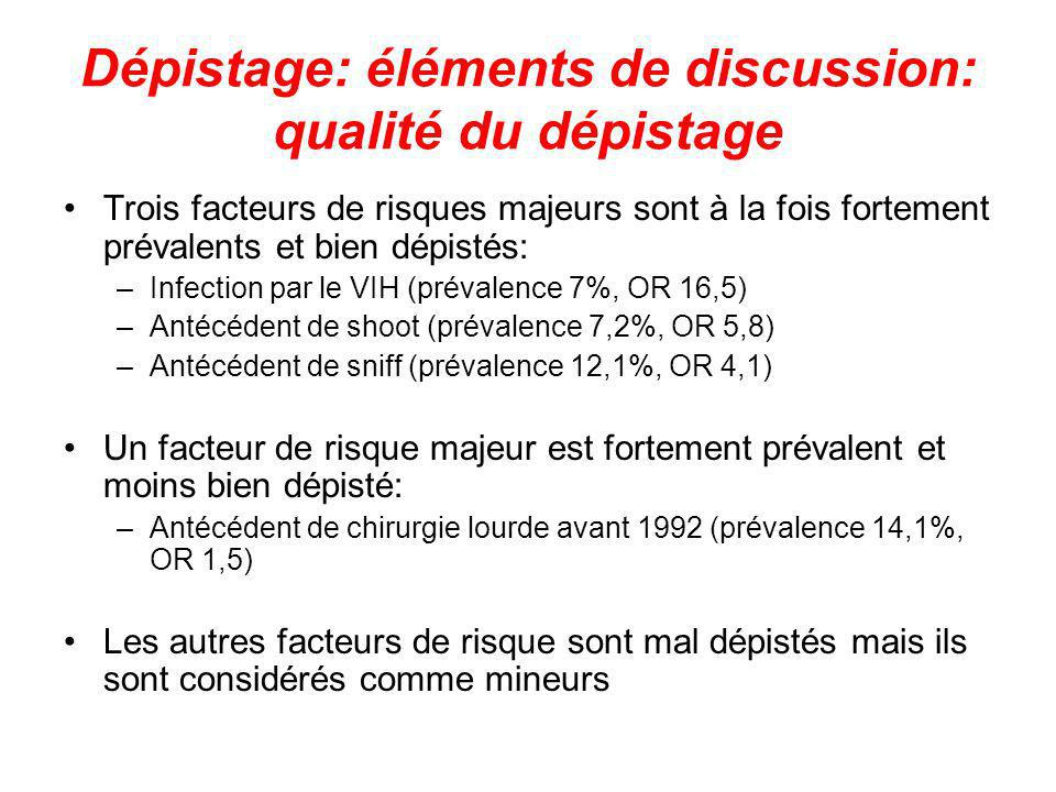 Dépistage: éléments de discussion: qualité du dépistage