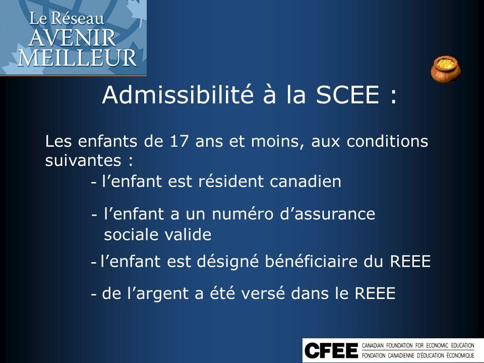 Admissibilité à la SCEE :