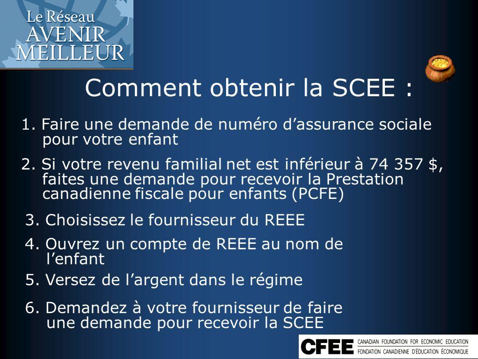 Comment obtenir la SCEE :