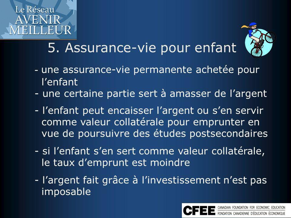 5. Assurance-vie pour enfant