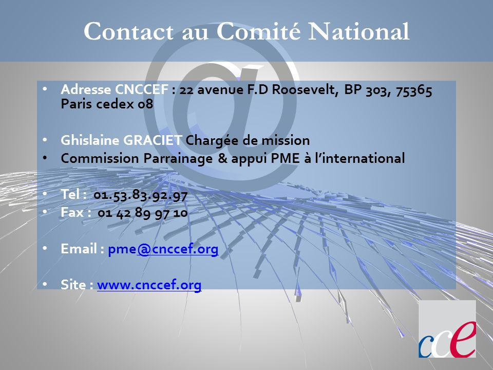 Contact au Comité National