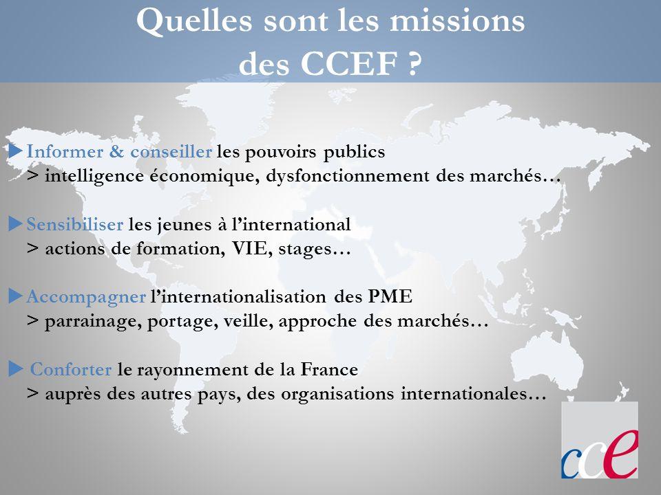 Quelles sont les missions des CCEF