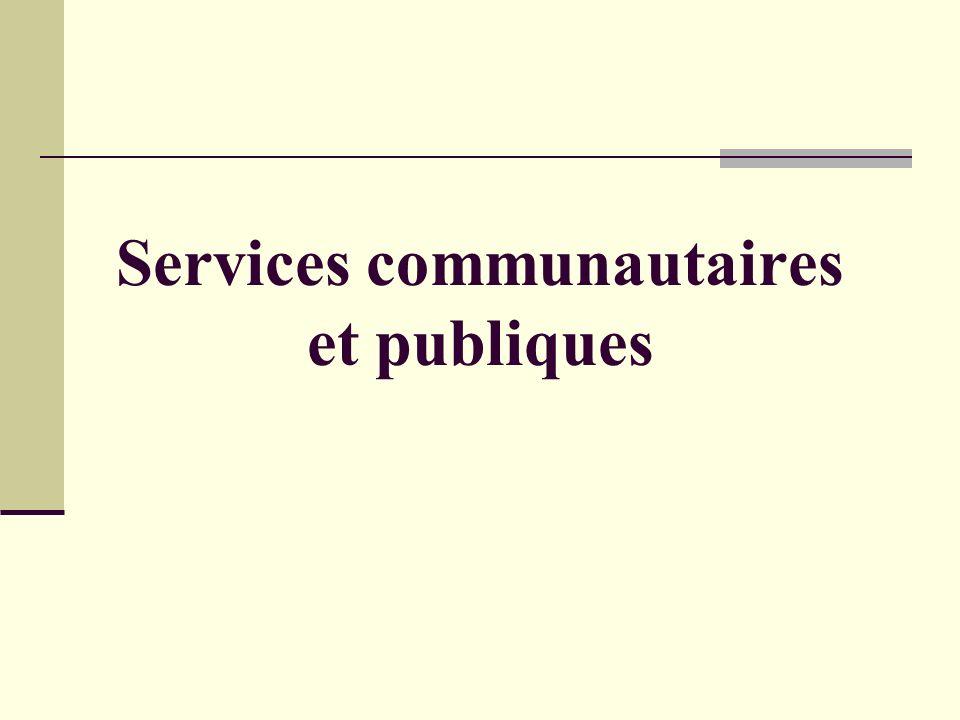 Services communautaires et publiques