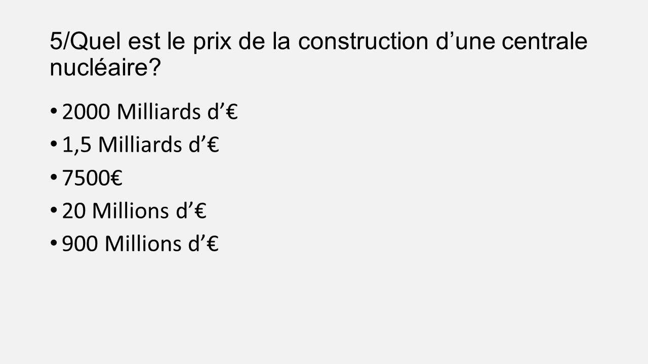 L avenir du nucl aire dans le monde 11 de production for Prix de la construction belgique