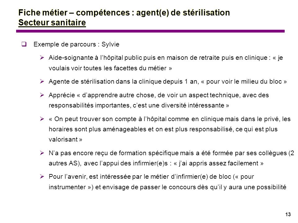 Fiches m tiers comp tences ppt t l charger for Agent maison de retraite