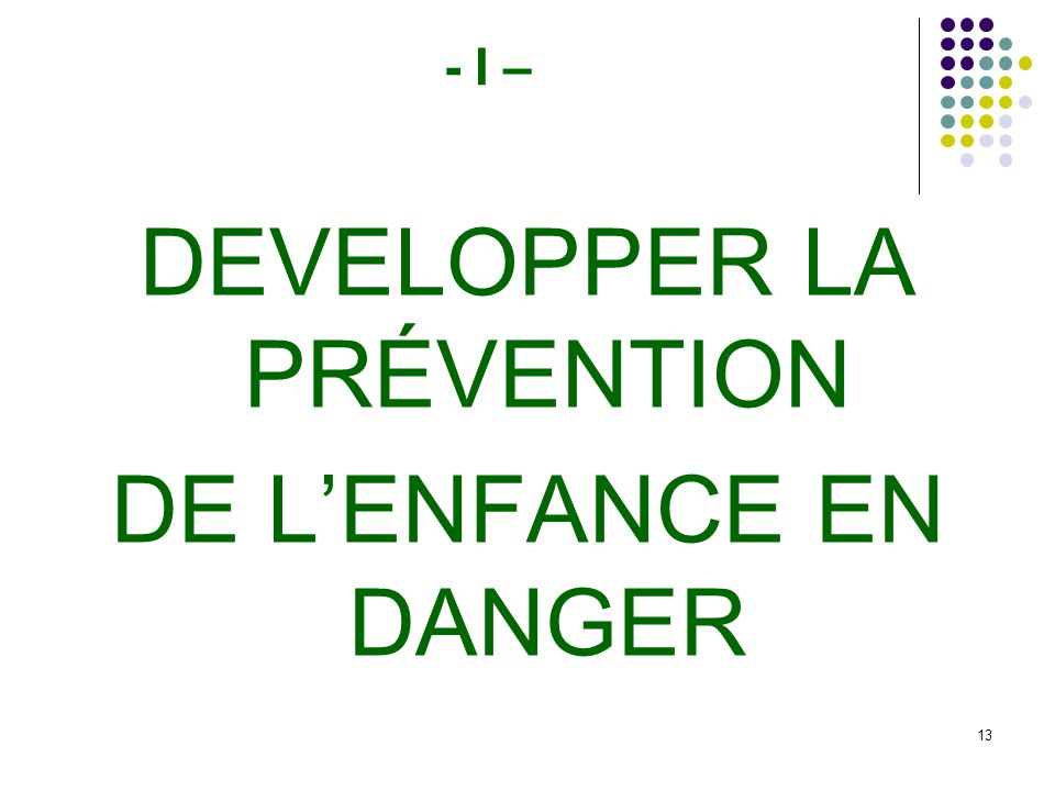 DEVELOPPER LA PRÉVENTION