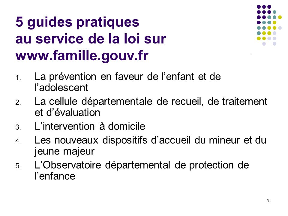 5 guides pratiques au service de la loi sur www.famille.gouv.fr