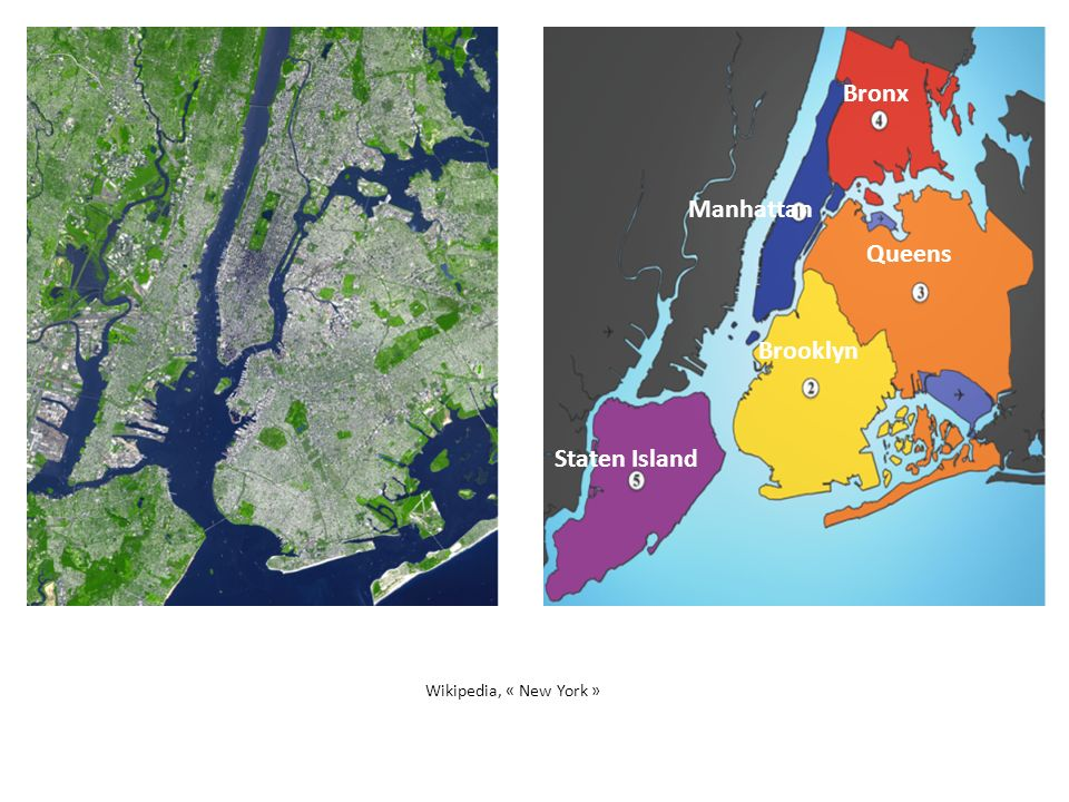 Bronx Manhattan Queens Brooklyn Staten Island Wikipedia, « New York »